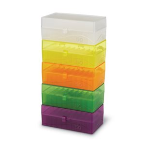 50-WELL HINGED MICROTUBE STORAGE BOX