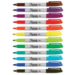 DUAL-TIP AND STANDARD FINE TIP SHARPIE PENS