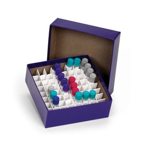CARDBOARD CRYOGENIC VIAL BOXES AND PARTITIONS