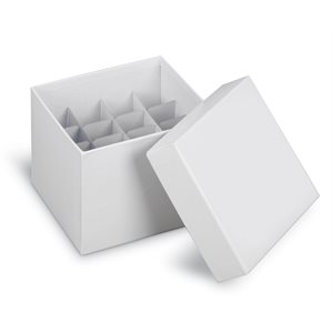 CARDBOARD CRYOGENIC TUBE STORAGE BOXES AND PARTITIONS