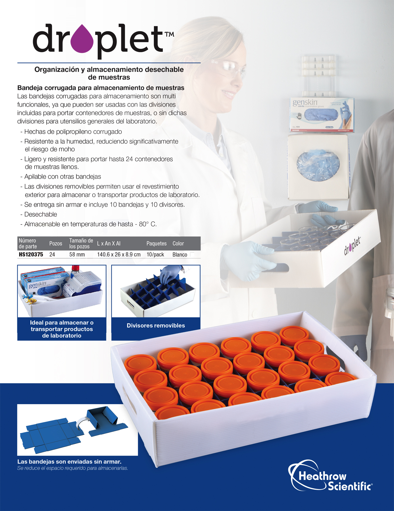 Download Corrugated Sample Storage Trays Brochure (Spanish)